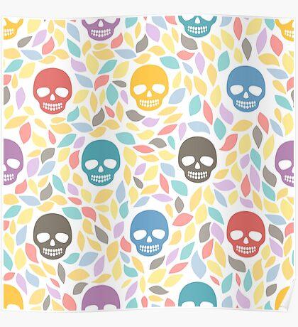 Funny sugar skulls Poster