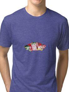 """Vans """"Off The Wall"""" - Flower Pattern  Tri-blend T-Shirt"""