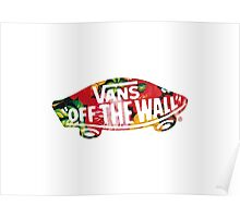 "Vans ""Off The Wall"" - Flower Pattern  Poster"