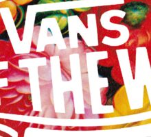 "Vans ""Off The Wall"" - Flower Pattern  Sticker"