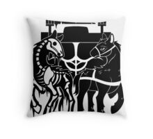 The Chariot Horses Throw Pillow