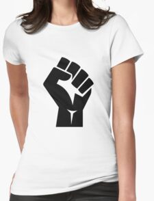 Raised Fist Womens Fitted T-Shirt