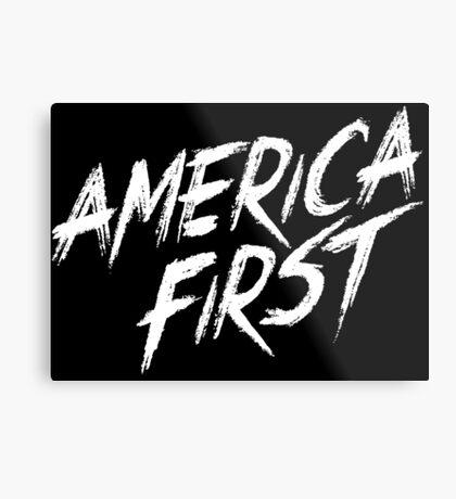 America Fist! Metal Print
