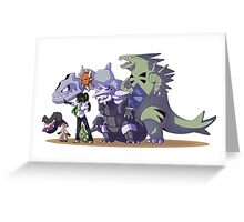 Pokemon trainer and her team Greeting Card