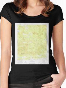 USGS TOPO Map Arkansas AR Magazine Mountain NE 258989 1966 24000 Women's Fitted Scoop T-Shirt