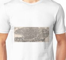 Vintage Map of Rome Italy (1652)  Unisex T-Shirt