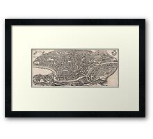 Vintage Map of Rome Italy (1652)  Framed Print