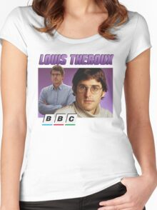 Louis Theroux 90s Tee Women's Fitted Scoop T-Shirt