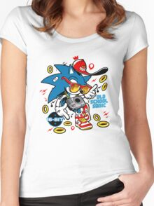 Sonic the Hedgehog - Old School Women's Fitted Scoop T-Shirt