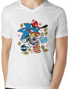 Sonic the Hedgehog - Old School Mens V-Neck T-Shirt