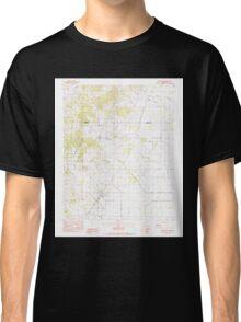USGS TOPO Map Arkansas AR Brookland 258063 1983 24000 Classic T-Shirt