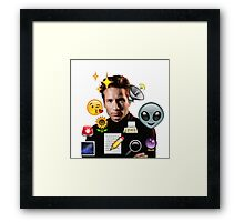 Mulder emoji collage Framed Print