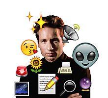 Mulder emoji collage Photographic Print