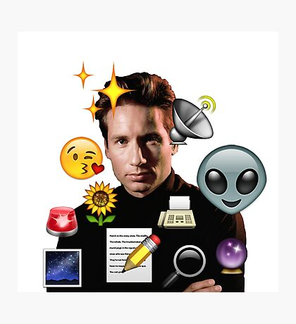 Mulder emoji collage Photographic Print