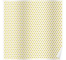 Yellow Delicate Flowers Poster