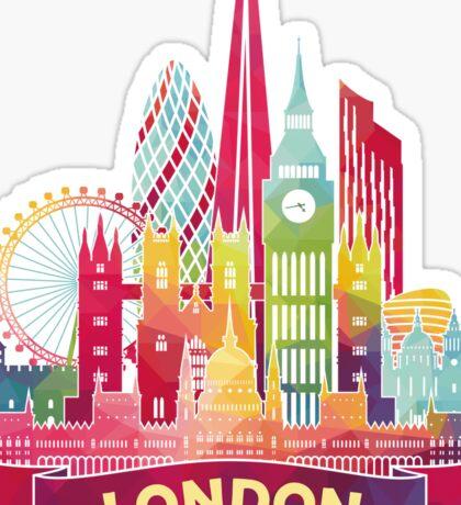 Moderne farbenfrohe Skyline von London Sticker