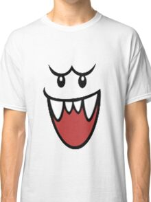 Super Mario Bros Boo Face Classic T-Shirt