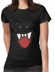 Super Mario Bros Boo Face Womens Fitted T-Shirt