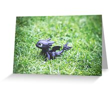 How to Train Your Dragon - Toothless Mini Figurine Greeting Card