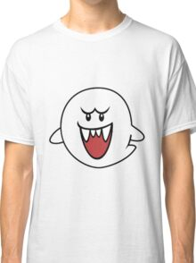 Super Mario Bros Boo Shape Design Classic T-Shirt