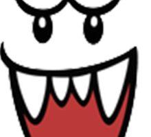 Super Mario Bros Boo Shape Design Sticker
