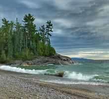 Agawa Bay. Lake Superior Provincial Park. Ontario Canada. by Tracy Wazny