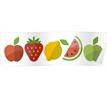 Healthy Fruits (Icons) Poster