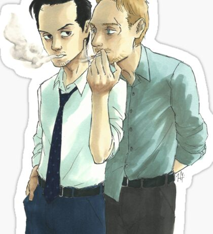 Sharing a Smoke Sticker