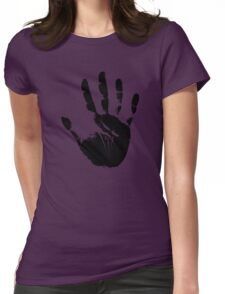 Handprint Silhouette Womens Fitted T-Shirt