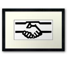 Shaking Hands Icon Framed Print