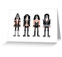 Pixel Kiss Rock Band Greeting Card