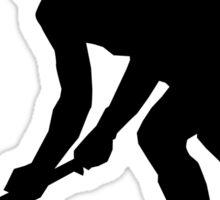 Grass Hockey Silhouette Sticker