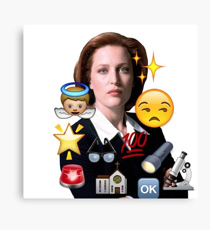 Scully emoji collage Canvas Print