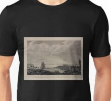 026 A south west view of the City of New York in North America 1 The harbour 2 Nutting Island 3 Staten Island 4 Long Island 5 Rutgars House 6 South River 7 Brew house Unisex T-Shirt