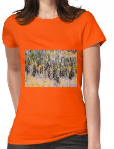 Autumn Abstract Womens Fitted T-Shirt