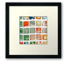 Stamped Fabric Framed Print