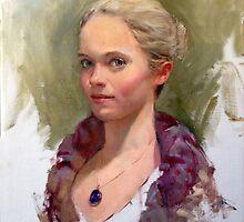 Portrait of a Dancer, Life Study by Chris Saper