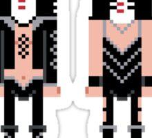 Pixel Kiss Rock Band Sticker