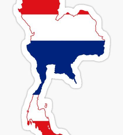 Thailand Flag Map Sticker
