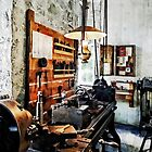 Small Lathe in Machine Shop by Susan Savad