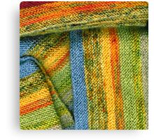 Knitted Stripes Canvas Print
