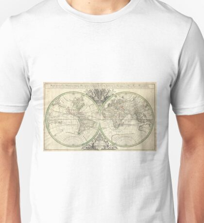 Vintage Map of The World (1691) Unisex T-Shirt