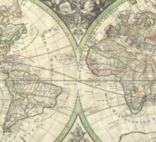 Vintage Map of The World (1691) Sticker