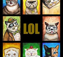 LOL Cats with Moustaches by Megan Mars