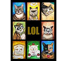 LOL Cats with Moustaches Photographic Print
