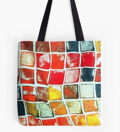 Falling Blocks Tote Bag