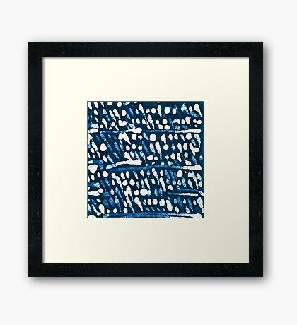 Batik Snow Framed Print