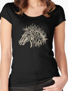 Tribal Horse Cool Vector Tshirt  Women's Fitted Scoop T-Shirt