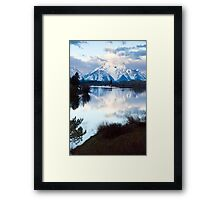Oxbow Bend an early morning in May Framed Print