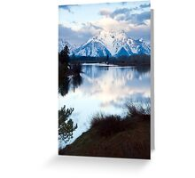 Oxbow Bend an early morning in May Greeting Card